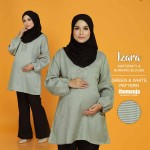 IZARA NURSING BLOUSE PATTERN in GREEN