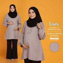 IZARA NURSING BLOUSE PATTERN in COCO