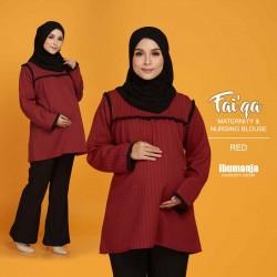 FAIQA NURSING BLOUSE in RED