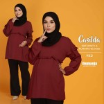 CASILDA NURSING BLOUSE in RED