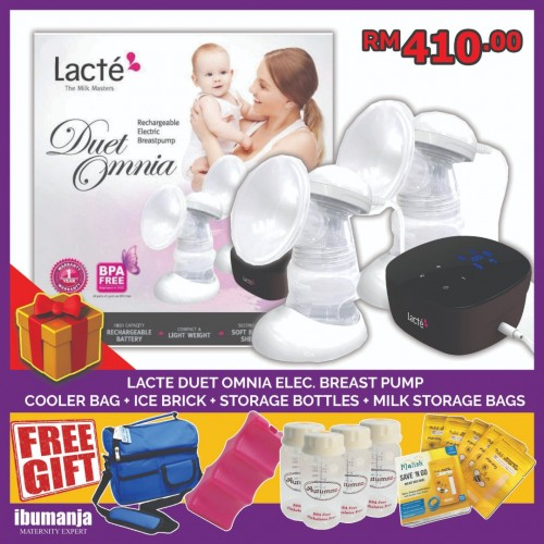 Lacté Duet Omnia Double Electric Breastpump (FREE GIFT A)