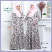 Dress Mengandung Insyirah 2021 - Smokey Grey Pink -