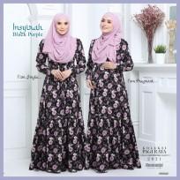 Dress Mengandung Insyirah 2021 - Black Purple -