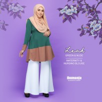 BLOUSE LEAH - GREEN&NUDE