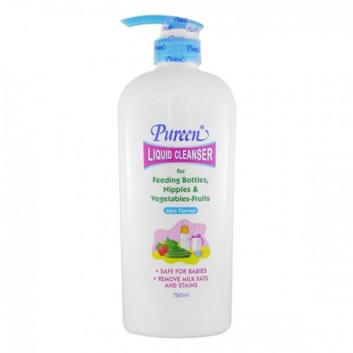 Pureen - Liquid Cleanser for Feeding Bottles, Nipples & Vegetables Mint