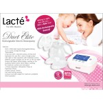 Lacté Duet Elite - Rechargeable Electric Breastpump (FREE GIFT A)