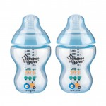 Tommee Tippee - Closer To Nature 9oz PP Tinted Bottle (Twin) BLUE