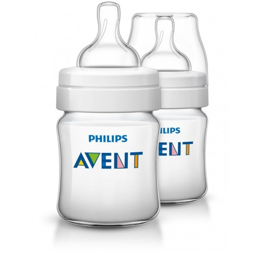 Avent Classic Plus Bottle 4oz / 125ml Twin Pack