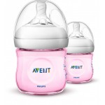 Avent Natural Pink Bottle 4oz / 125ml Twin Pack